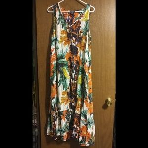 ANGIE Long Multi Colored Maxi Dress